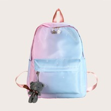 Girls Ombre Backpack With Toy Charm
