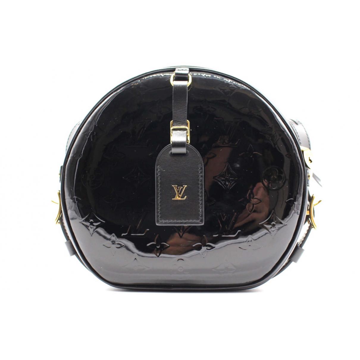 Louis Vuitton Boite chapeau souple Handtasche in  Schwarz Lackleder