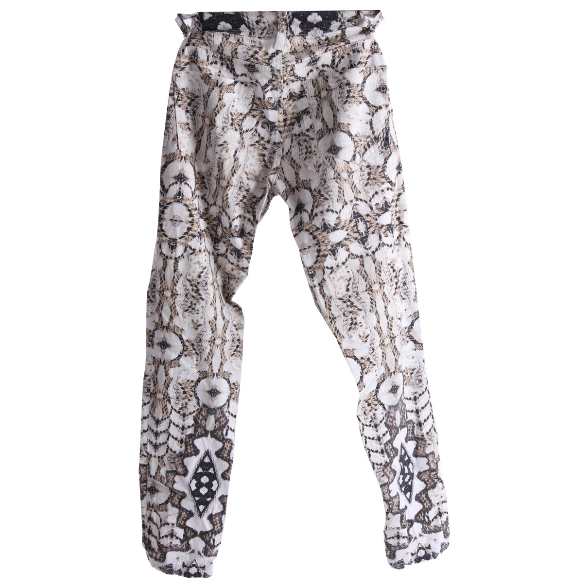 Just Cavalli \N Multicolour Cotton Trousers for Women One Size US