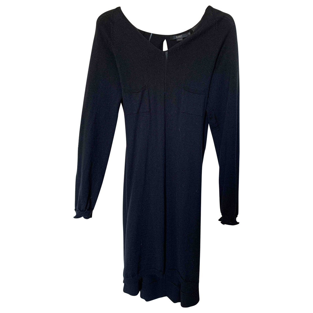 Non Signé / Unsigned \N Black Wool dress for Women 42 IT