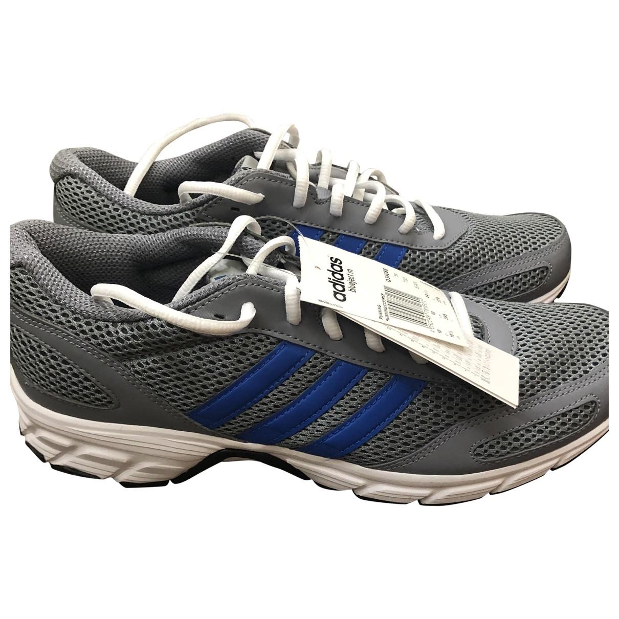 Adidas - Baskets   pour homme en toile - gris