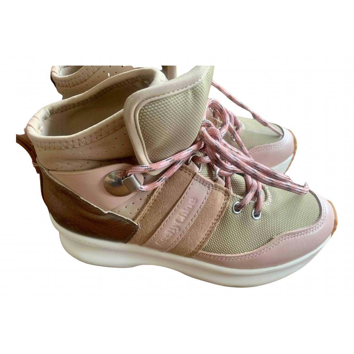 See By Chloe - Baskets   pour femme en cuir - rose