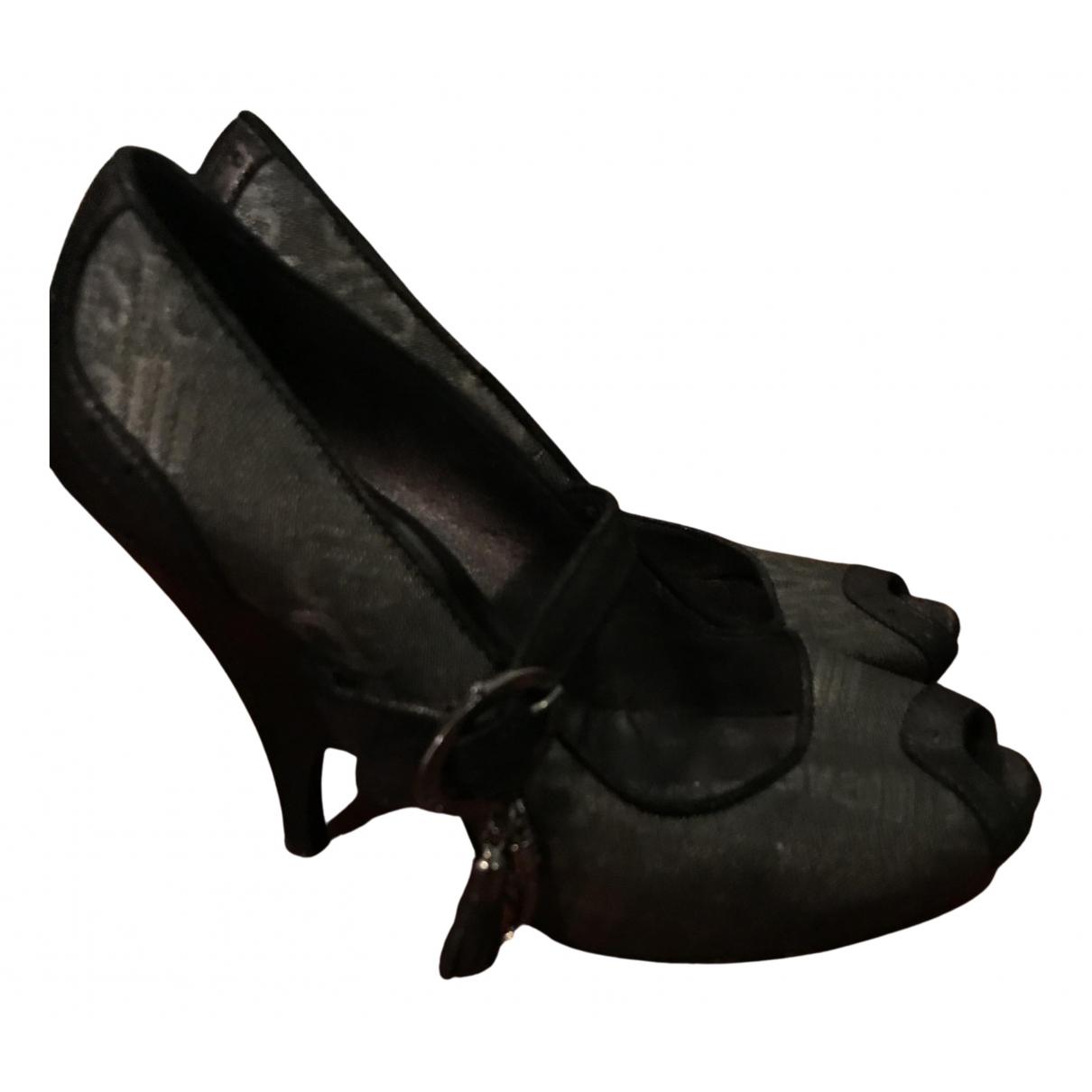 Roberto Cavalli N Grey Cloth Heels for Women 38 EU