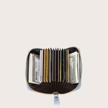 Holografische Geldborse mit Reissverschluss