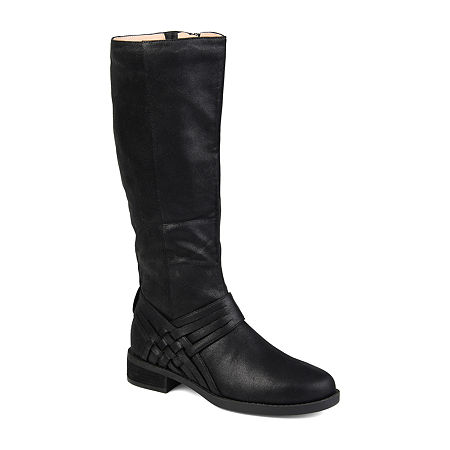 Journee Collection Womens Meg Stacked Heel Over the Knee Boots, 11 Medium, Black