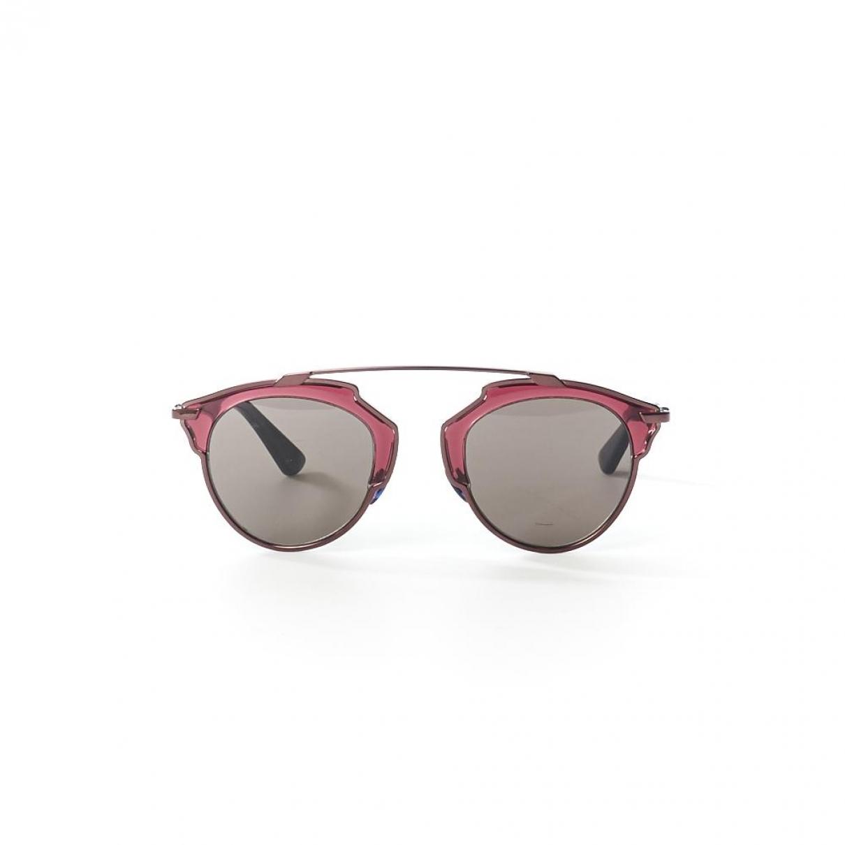 Dior So Real  Sonnenbrillen in  Bordeauxrot Metall