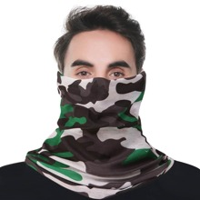 Men Camo Pattern Sun Protection For The Face