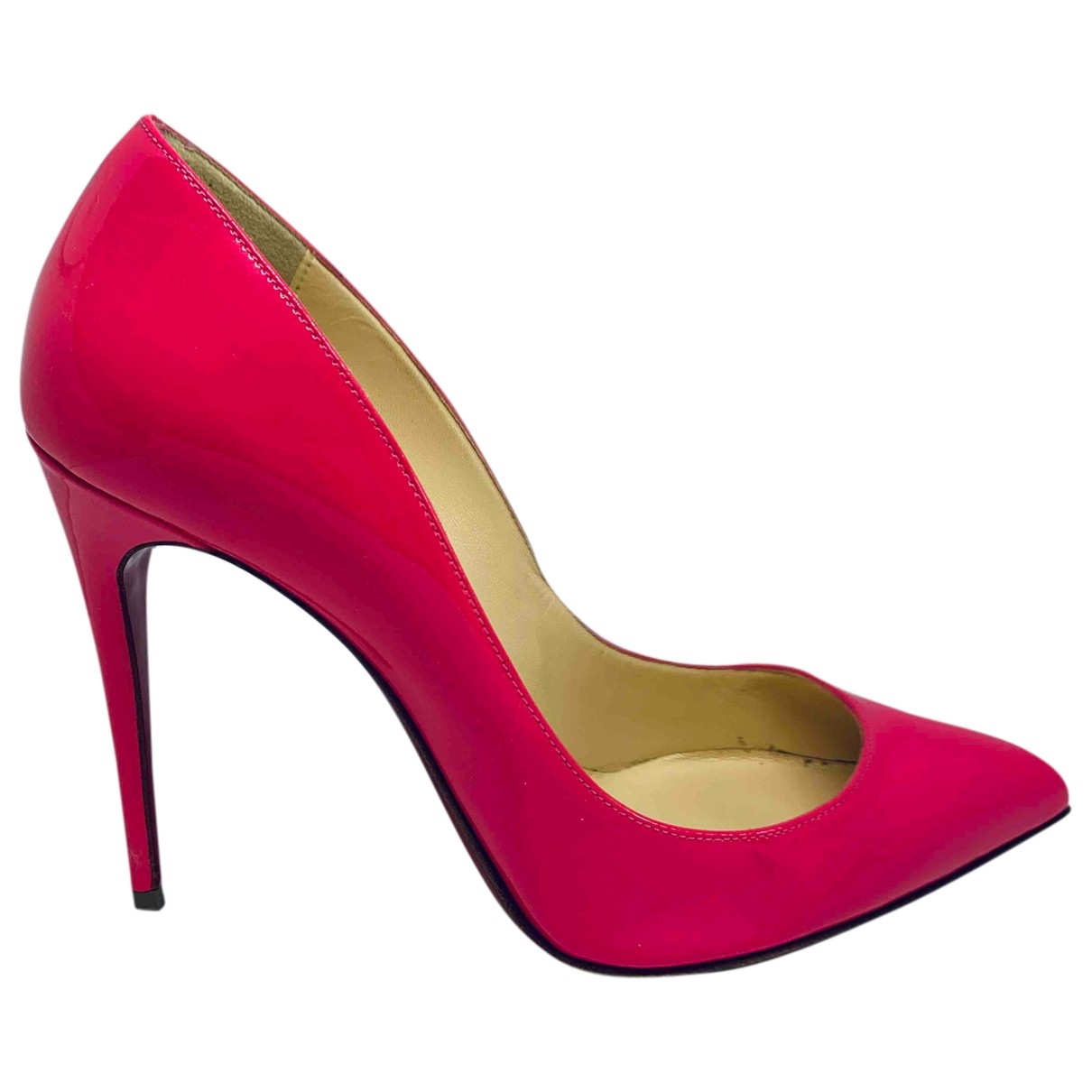 Christian Louboutin Pigalle Pink Patent leather Heels for Women 35.5 EU