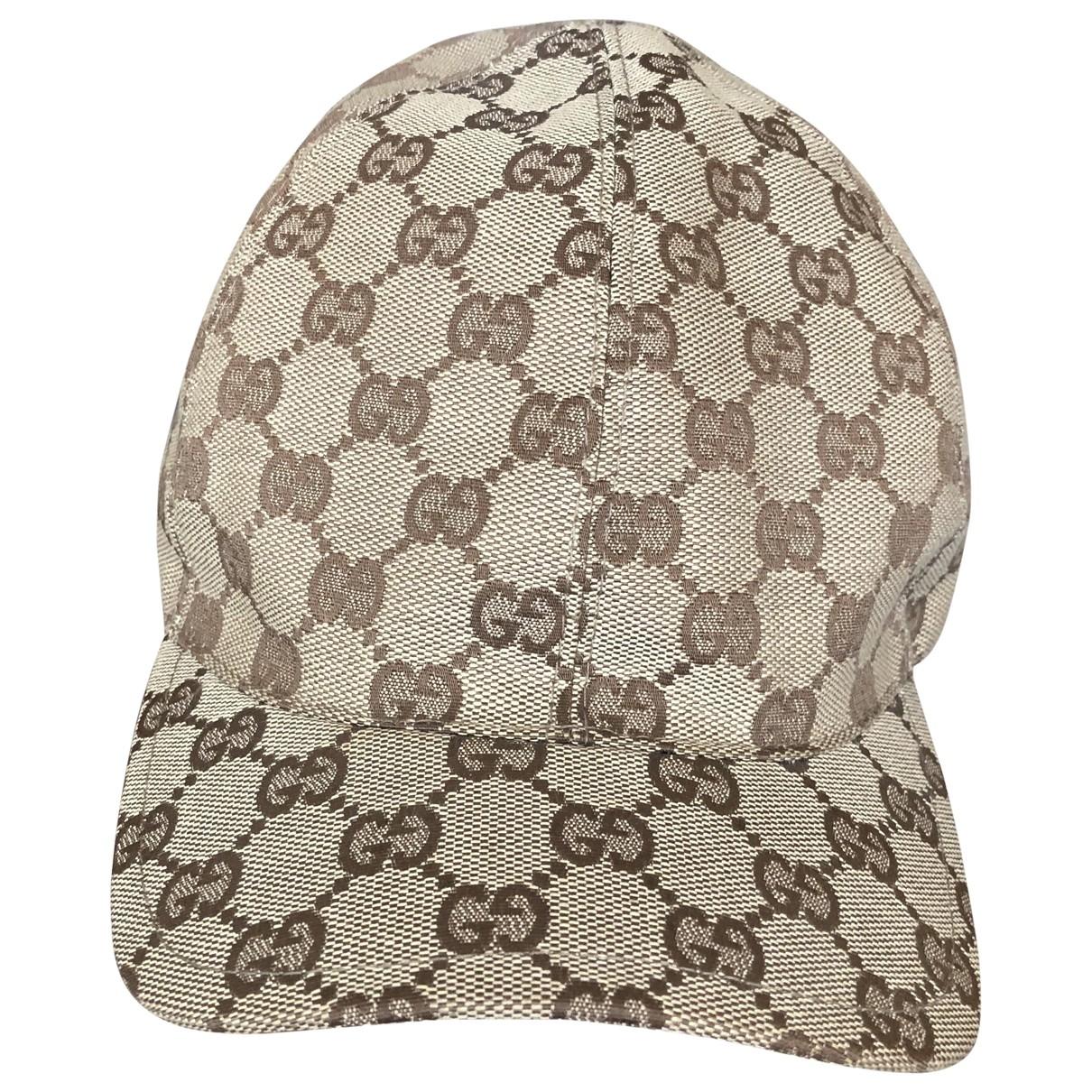Gucci - Chapeau   pour femme en toile - beige