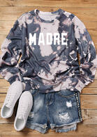 Presale - Bleached Madre O-Neck Sweatshirt