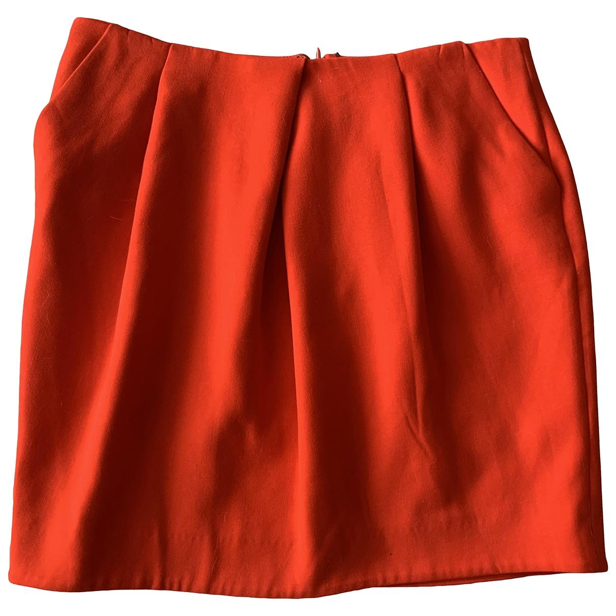 Cos - Jupe   pour femme en coton - orange