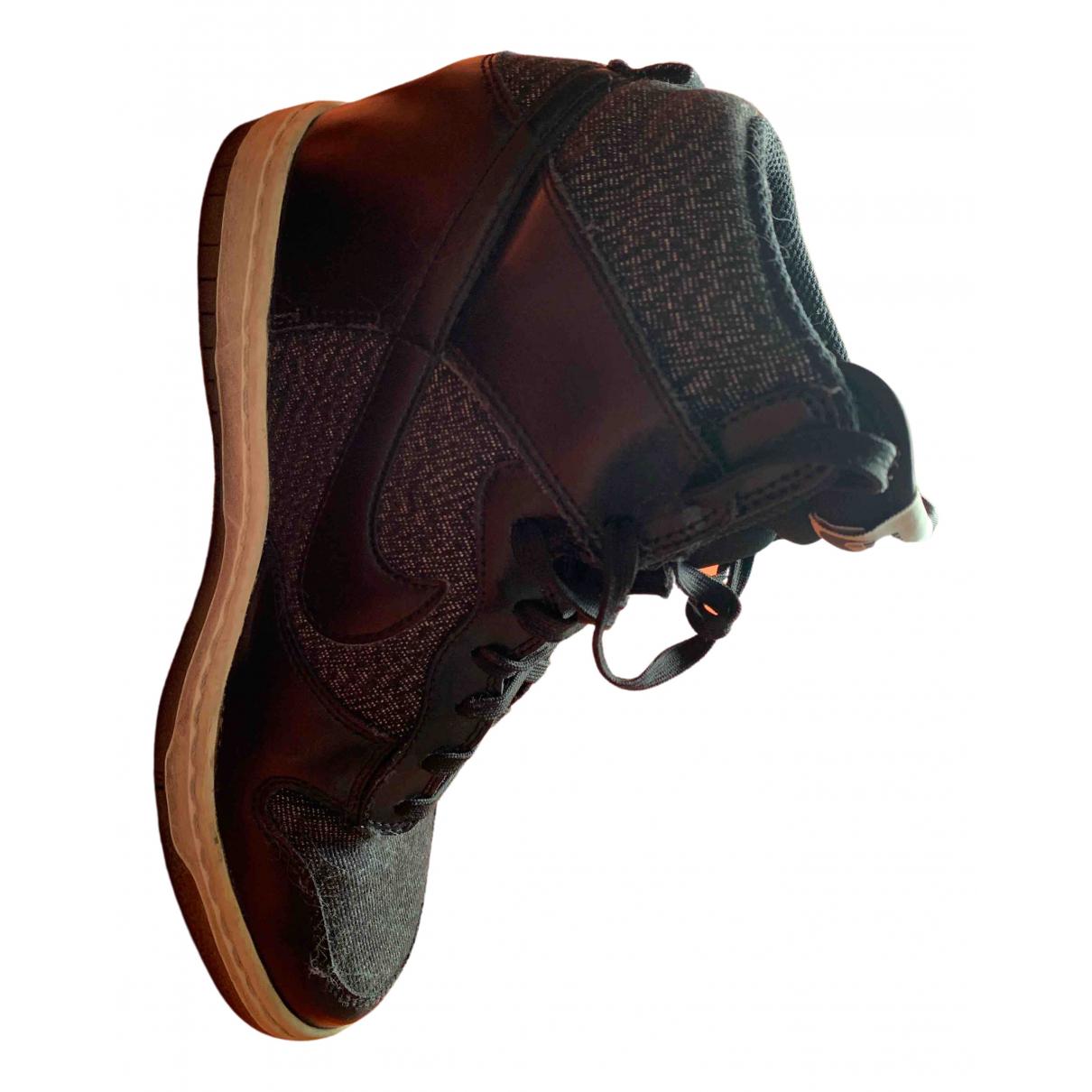 Nike Dunk Sky Sneakers in  Schwarz Leder