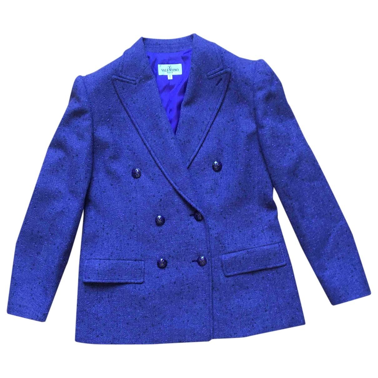 Valentino Garavani \N Purple Wool jacket for Women 48 IT