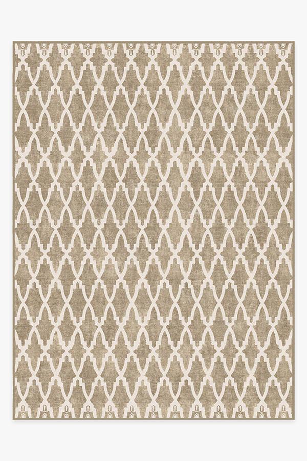 Washable Rug Cover | Soraya Trellis Natural Rug | Stain-Resistant | Ruggable | 9'x12'