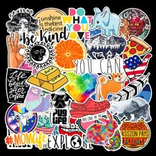 40pcs Mixed Cartoon Graphic Sticker