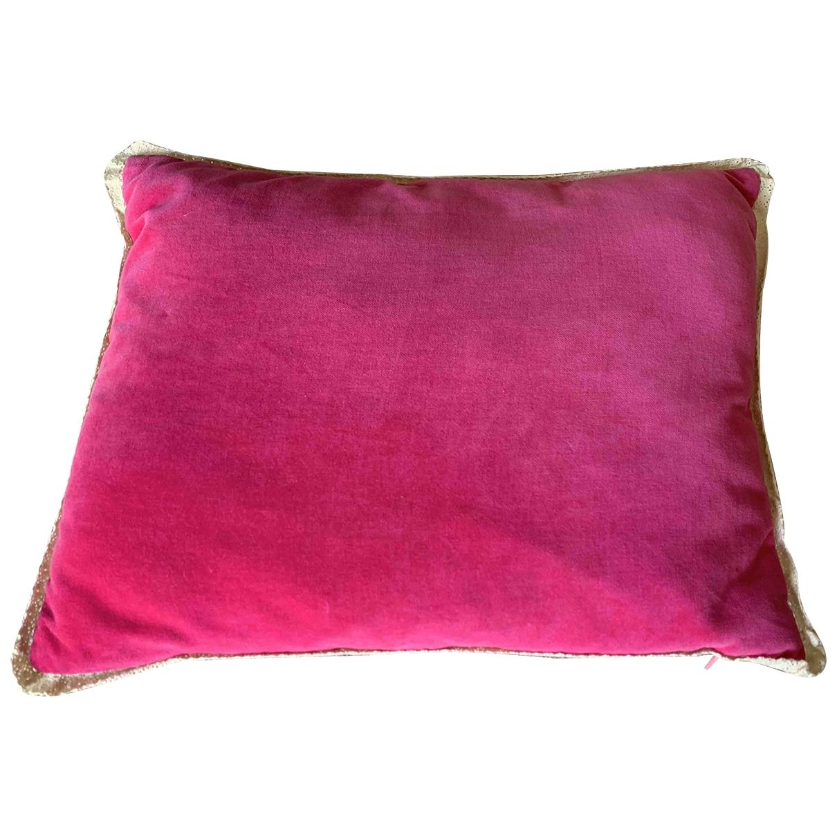 Zara \N Pink Velvet Textiles for Life & Living \N