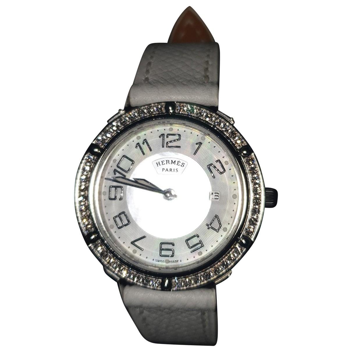 Hermès Clipper White Steel watch for Women \N