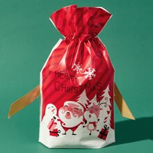 1pc Christmas Santa Claus Gift Bag