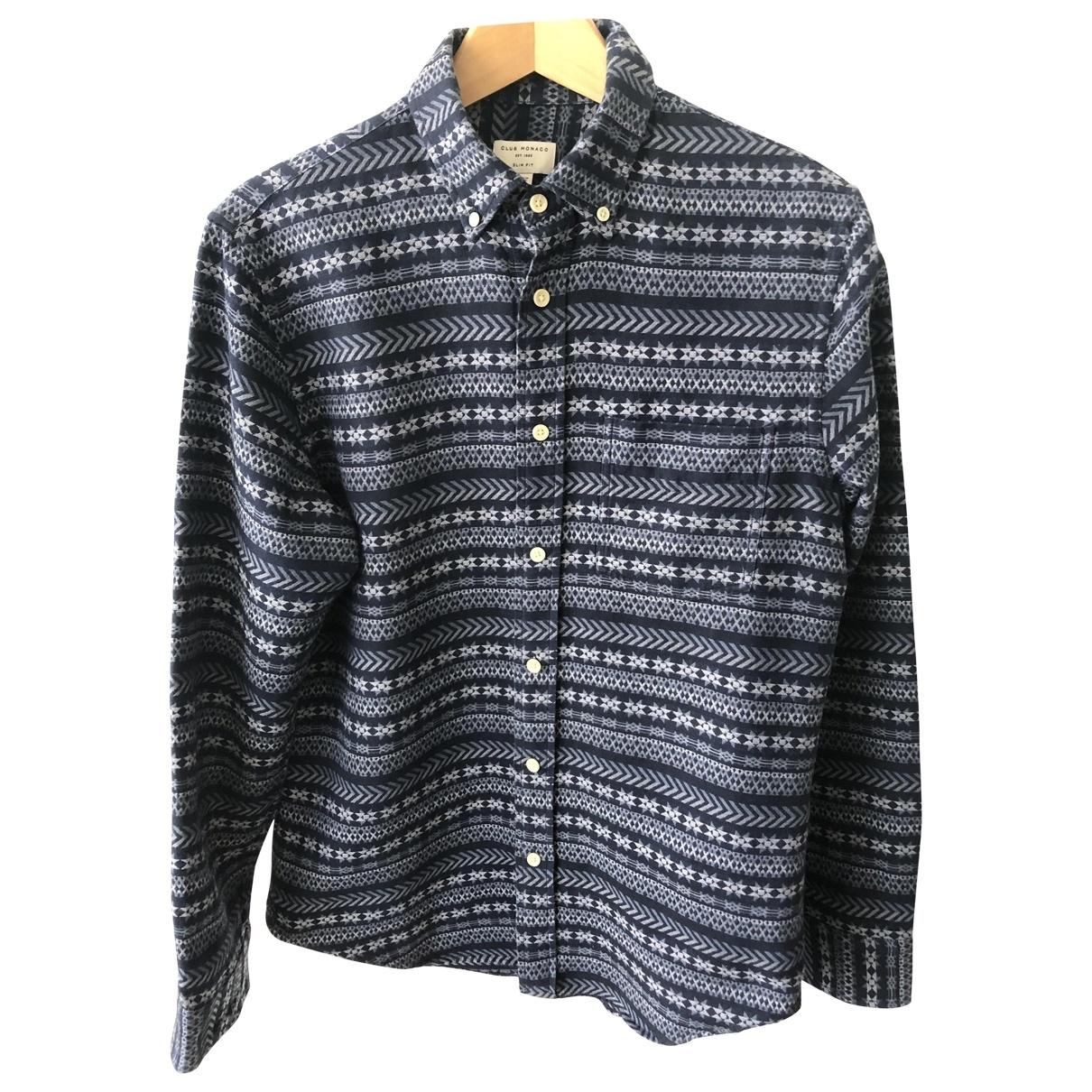 Club Monaco - Chemises   pour homme en coton - bleu