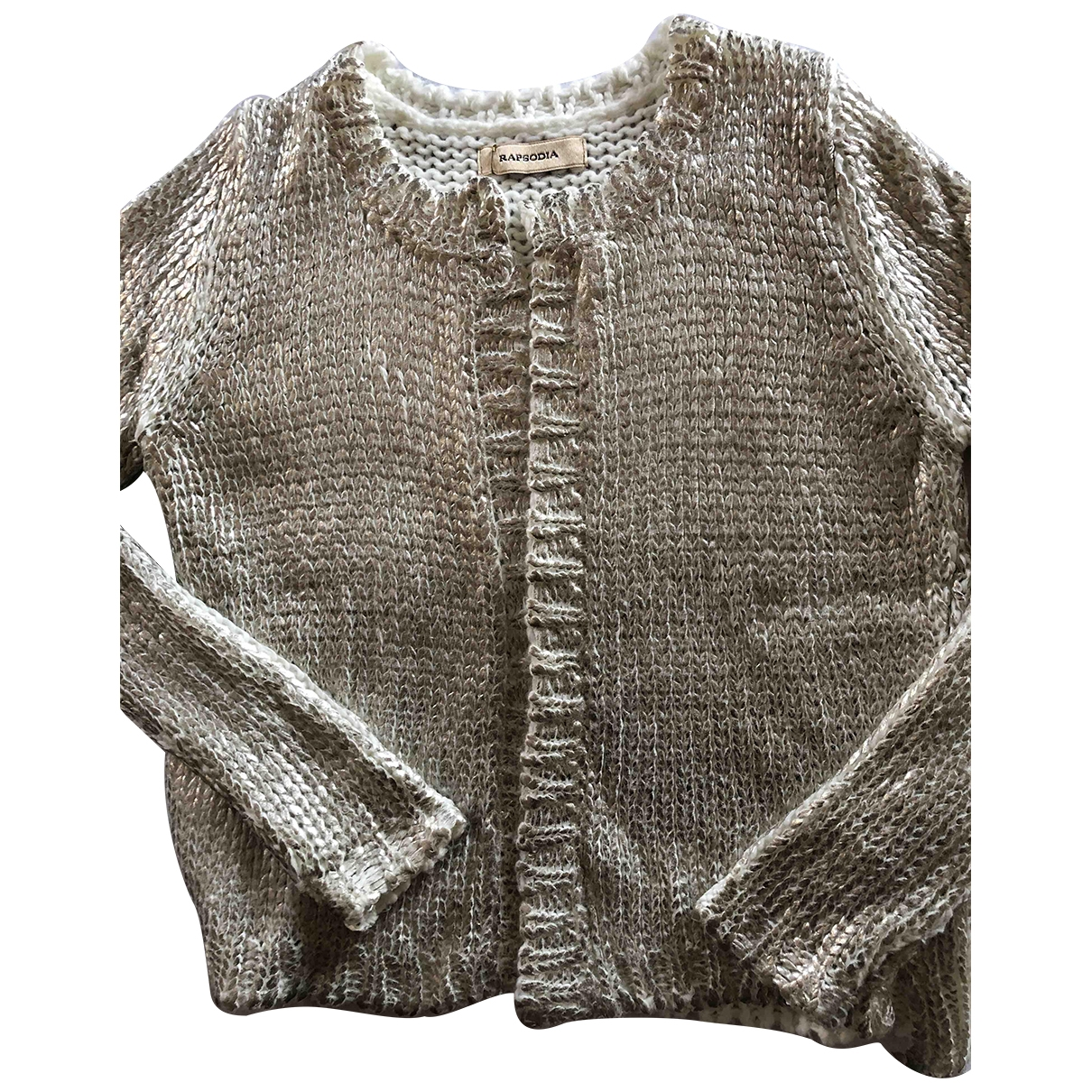 Non Signé / Unsigned \N Gold Wool Knitwear for Women M International