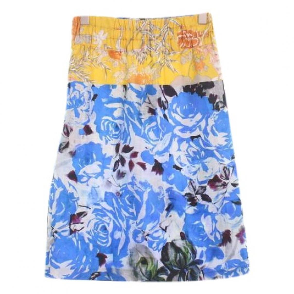 Dries Van Noten \N Blue Silk skirt for Women 34 IT