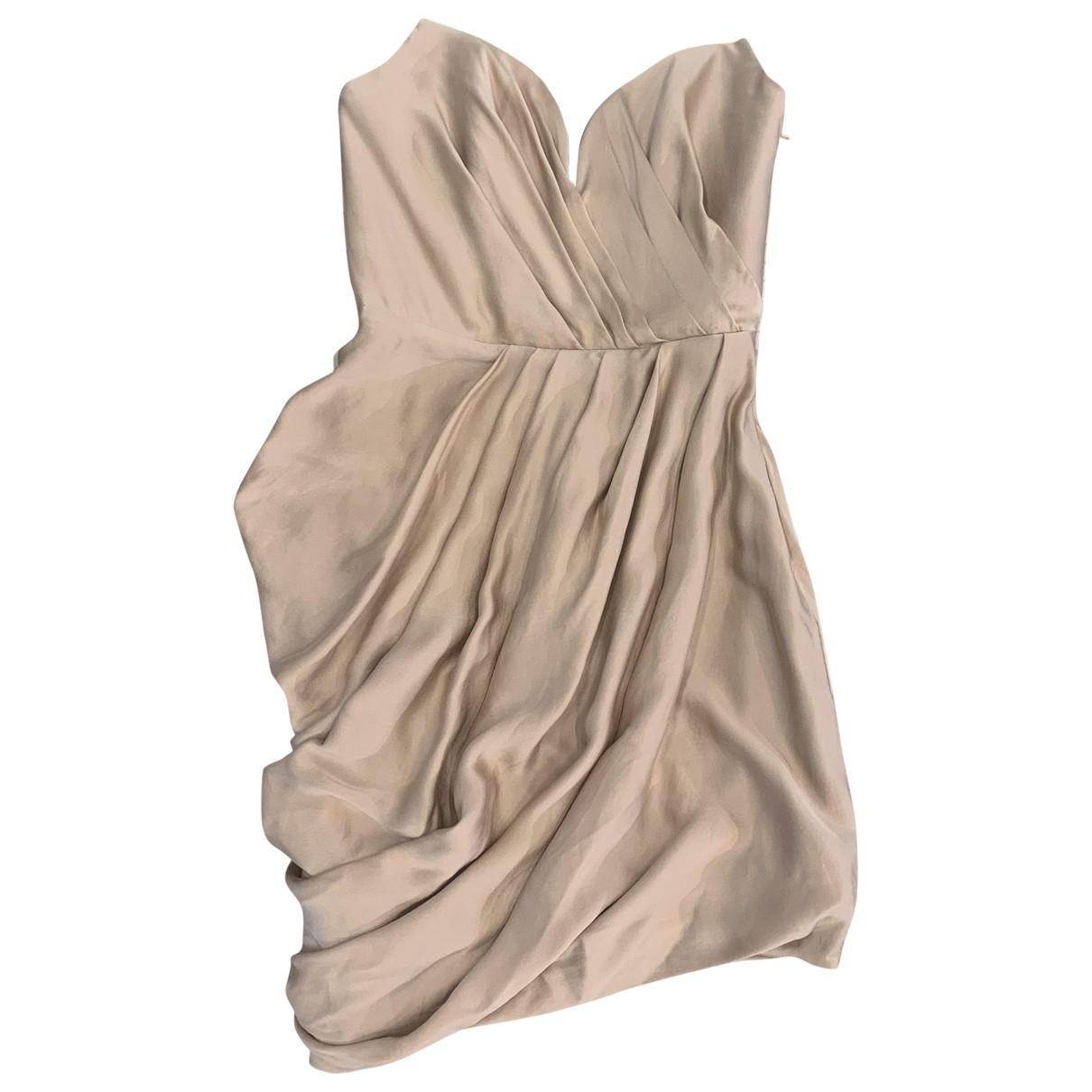 Zimmermann \N Kleid in  Beige Seide