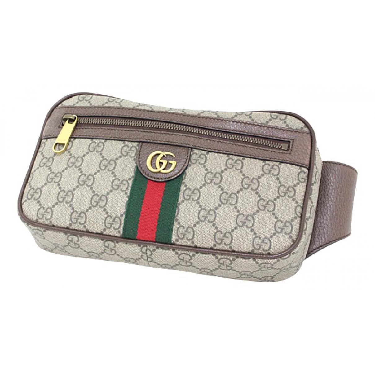 Gucci Ophidia Beige Cloth Clutch bag for Women N