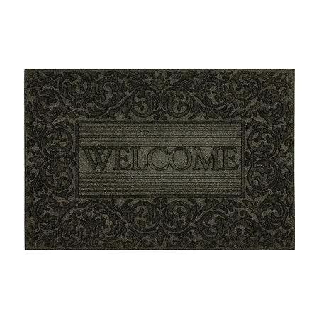 Mohawk Home Filagree Border Rectangular Outdoor Doormat, One Size , Black