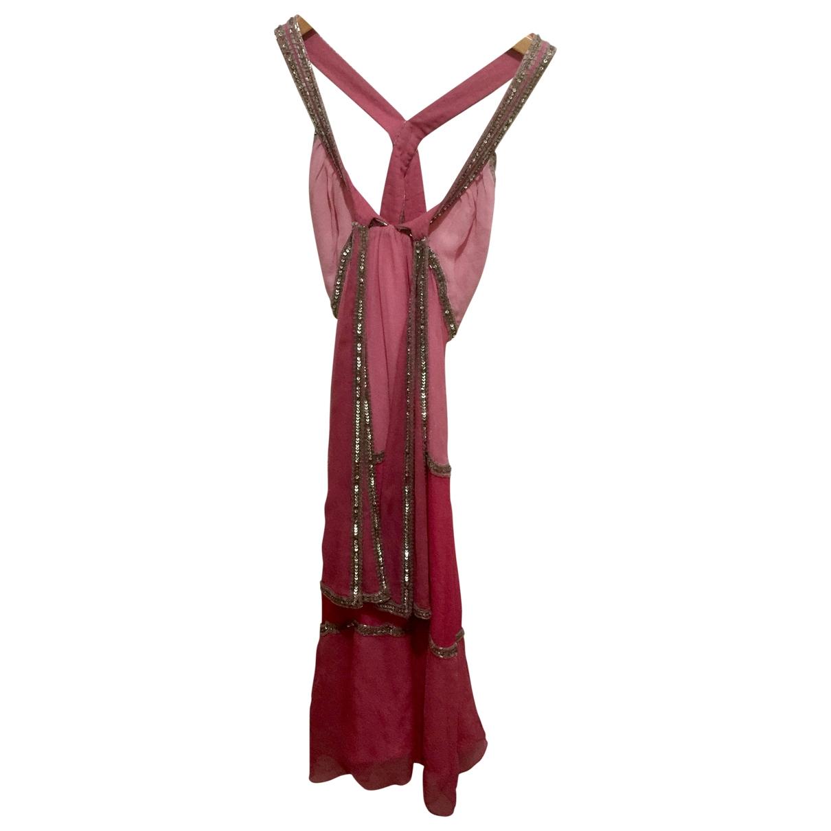 Temperley London \N Kleid in  Rosa Frottee