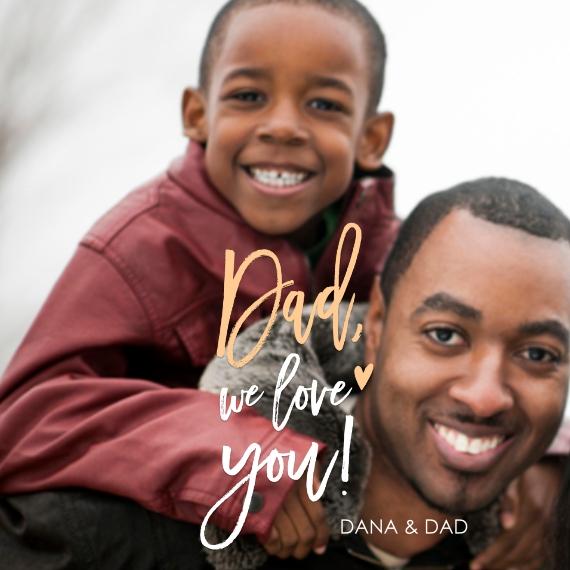 Family 4x4 Framed Magnet, Gift -Handwritten We Love You Dad