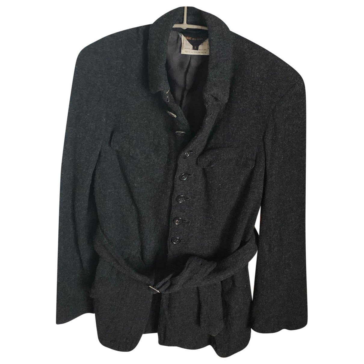 Comme Des Garcons \N Jacke in  Anthrazit Wolle