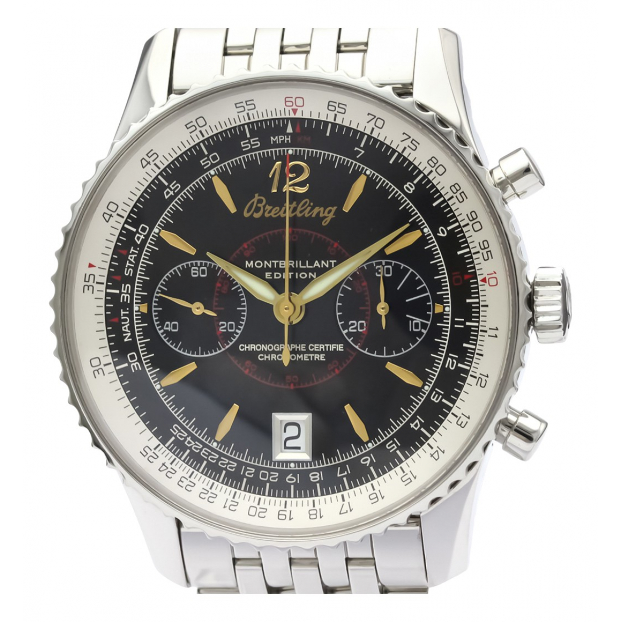 Breitling Navitimer Uhr in  Schwarz Stahl