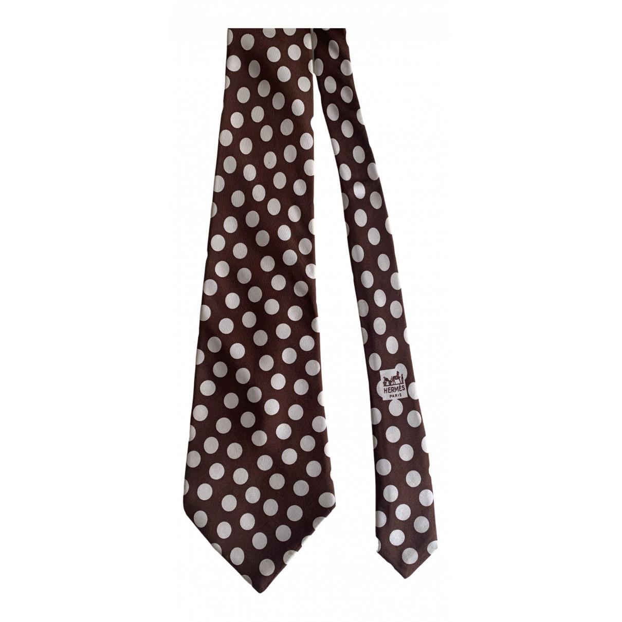 Hermès \N Brown Silk Ties for Men \N