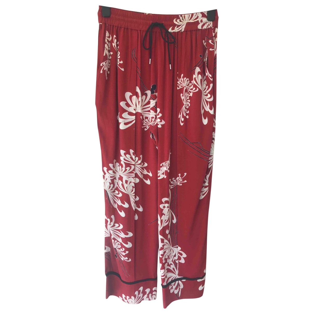 Mcq \N Red Trousers for Women 42 IT