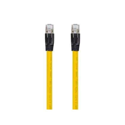 Cat8 24AWG 2GHz 40G S-FTP Câble Réseau Ethernet Série Entegrade - Monoprice® - 25pi, Jaune