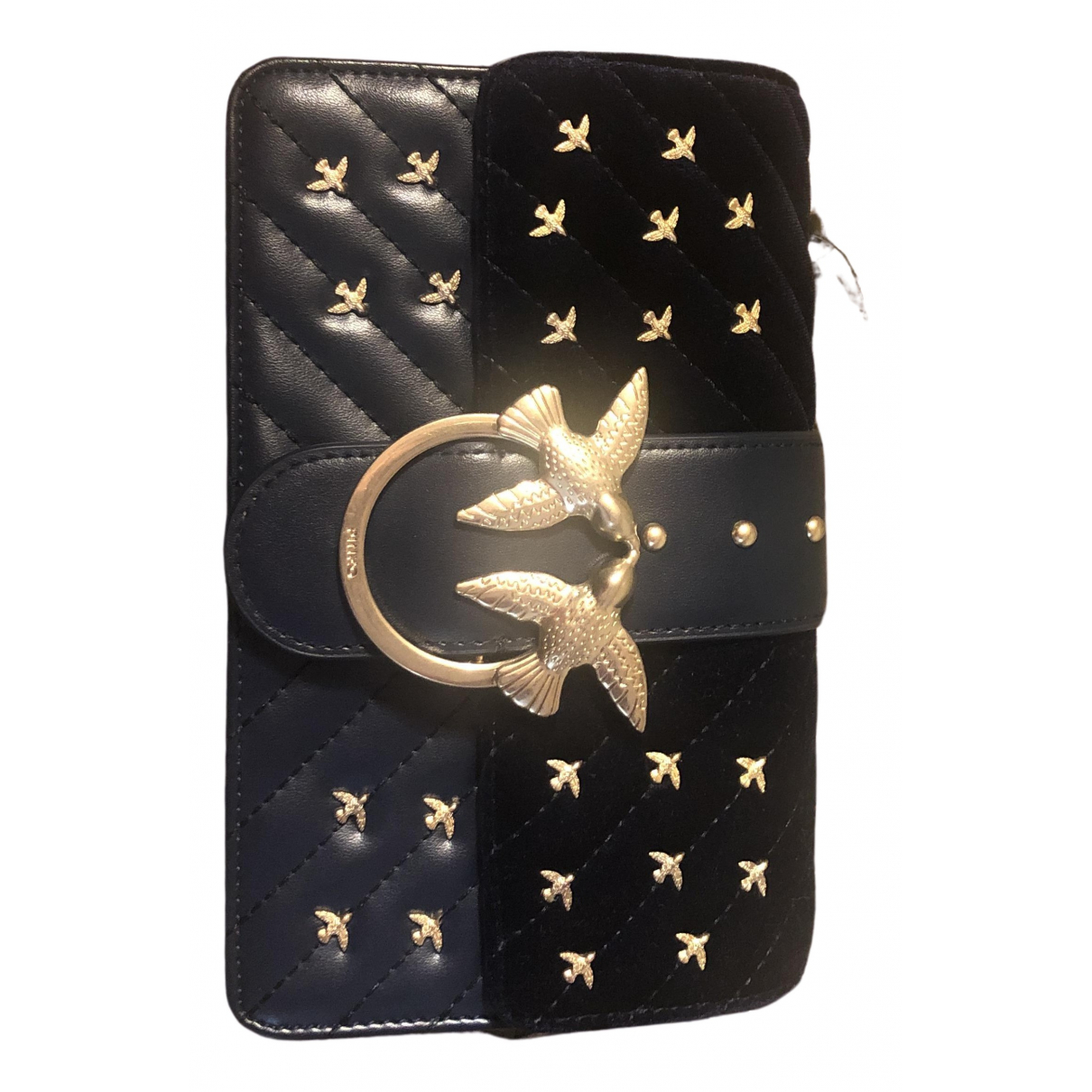 Pochette Love Bag de Terciopelo Pinko