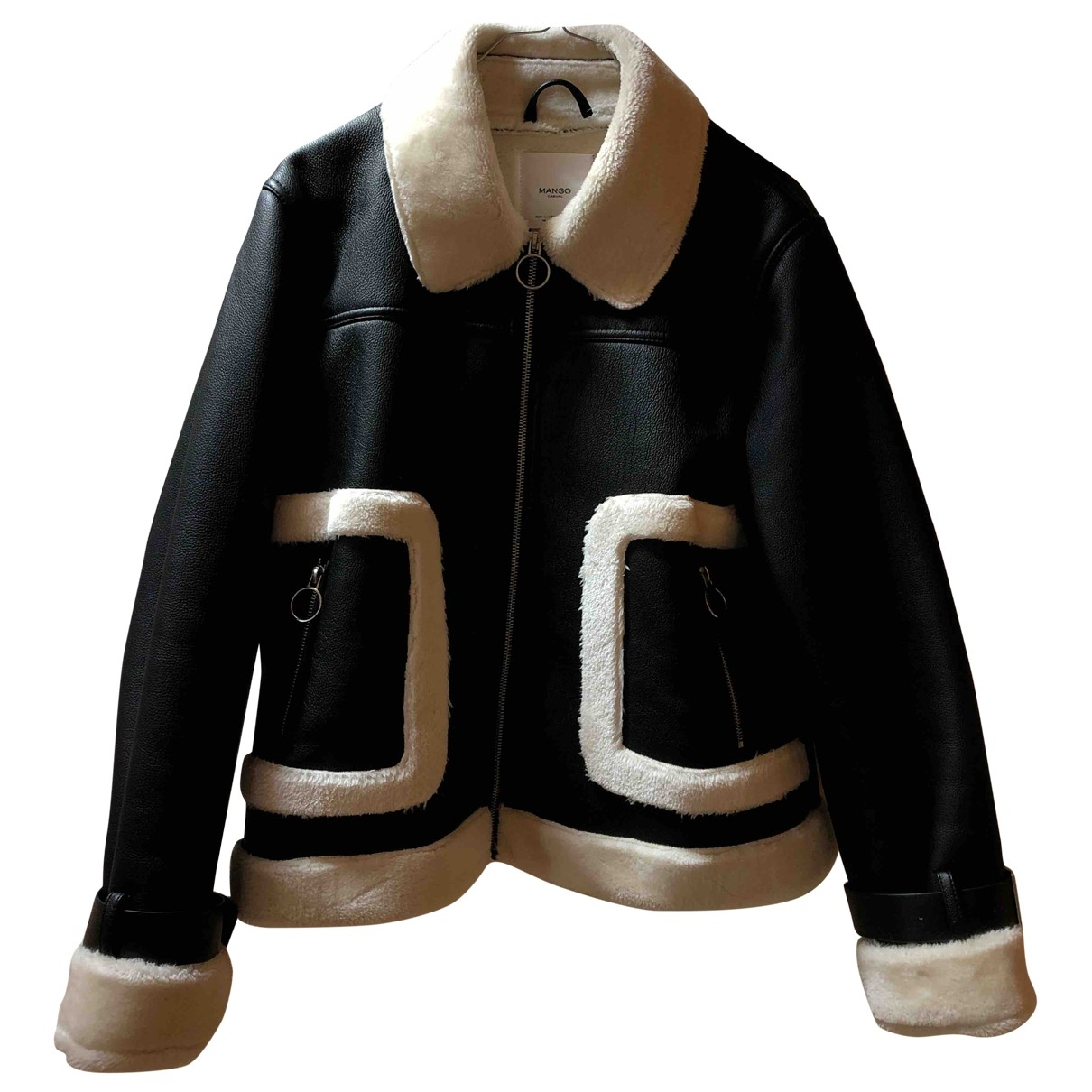 Mango \N Black Leather jacket for Women L International