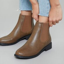 Almond Toe Side Gore Chelsea Booties