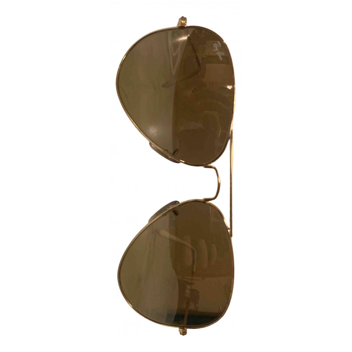 Ray-ban Aviator Metallic Metal Sunglasses for Women N