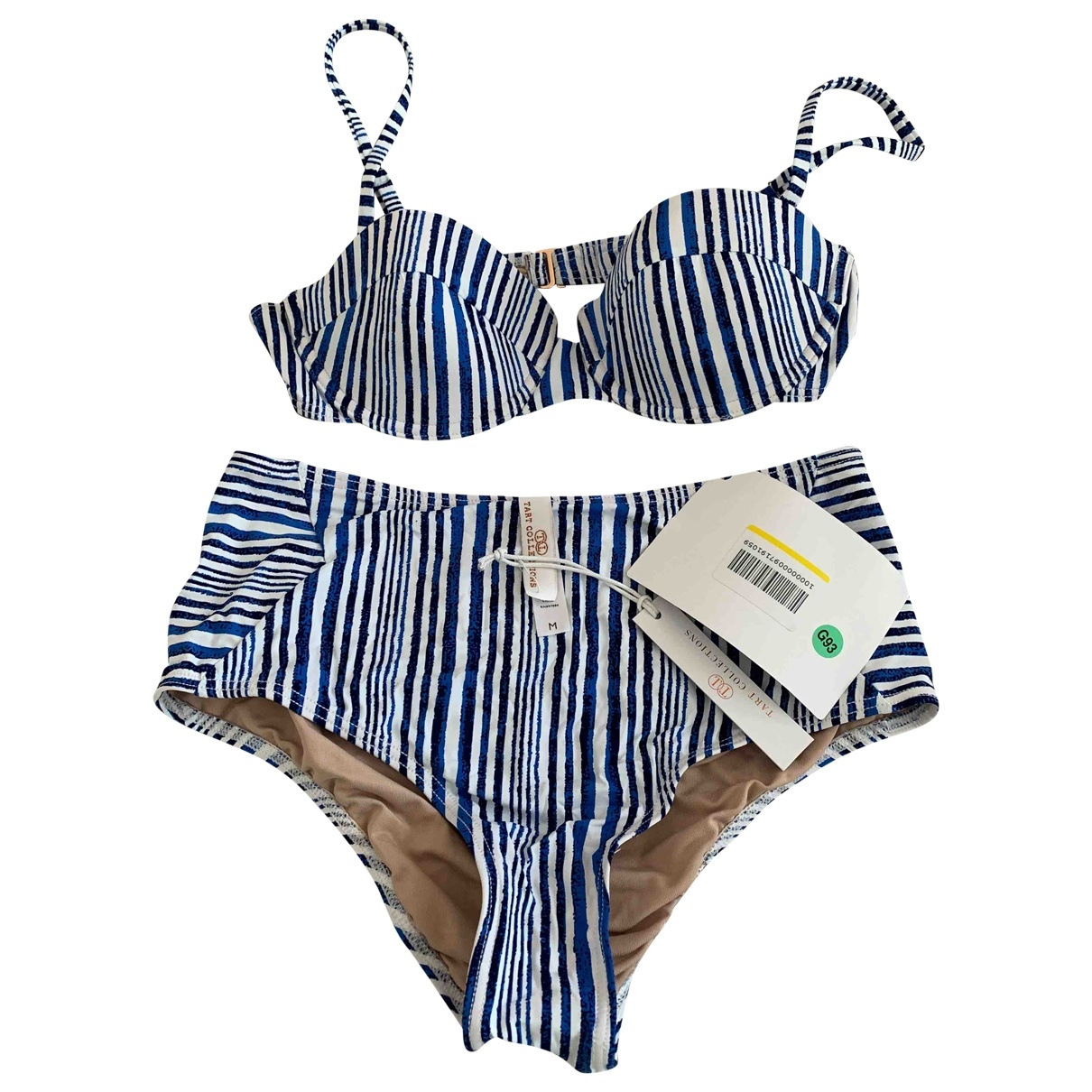 Non Signé / Unsigned \N Blue Cotton - elasthane Swimwear for Women M International