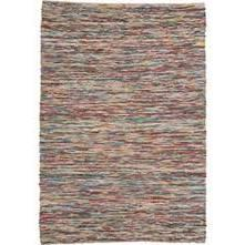 Xylo Collection RXYL-7998 Rug with Hand Woven Construction  Braided Pattern  Casual Style and Wool Material in Multi