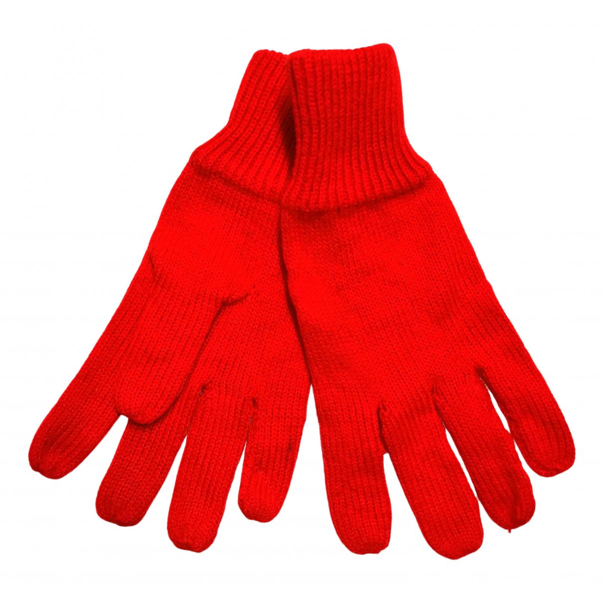 - Gants   pour femme en laine - rouge