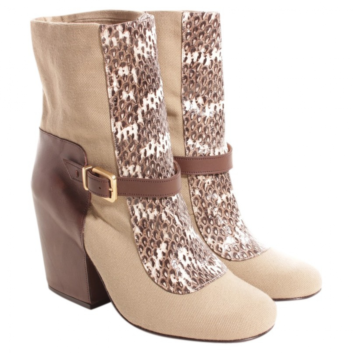 Robert Clergerie - Boots   pour femme en cuir - multicolore