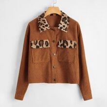 Cazadoras Bolsillo Leopardo Casual
