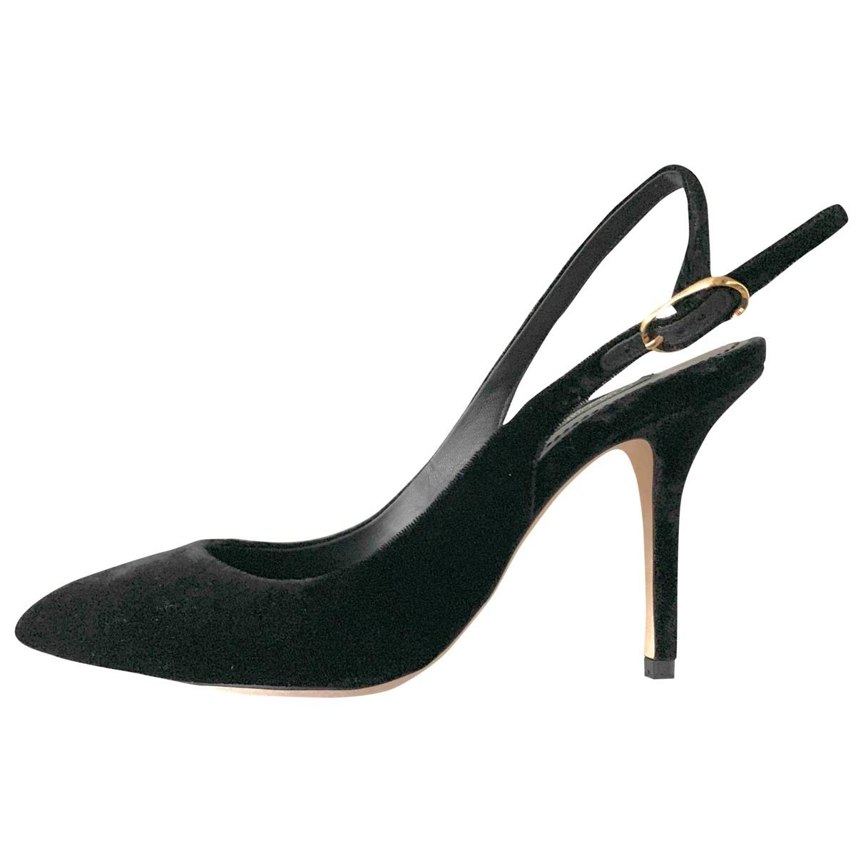Dolce & Gabbana - Escarpins   pour femme en velours - noir
