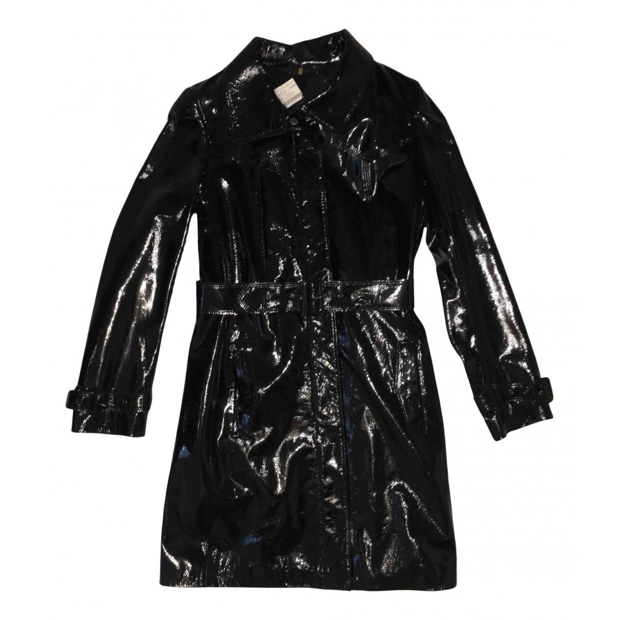 Elie Tahari - Manteau   pour femme en cuir - noir