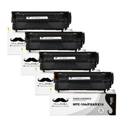 Compatible Canon FX9 FX10 cartouche de toner noire - Moustache - 4/paquet