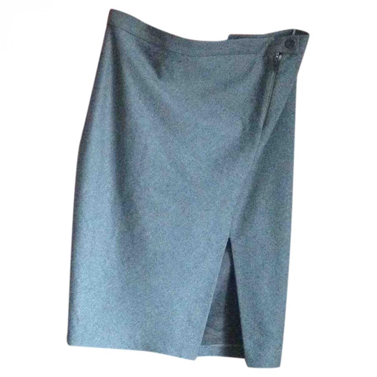Brunello Cucinelli \N Grey Wool skirt for Women 42 FR