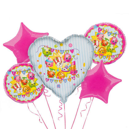 Shopkins 1 Balloon Bouquet 5 pcs. For Birthday Party