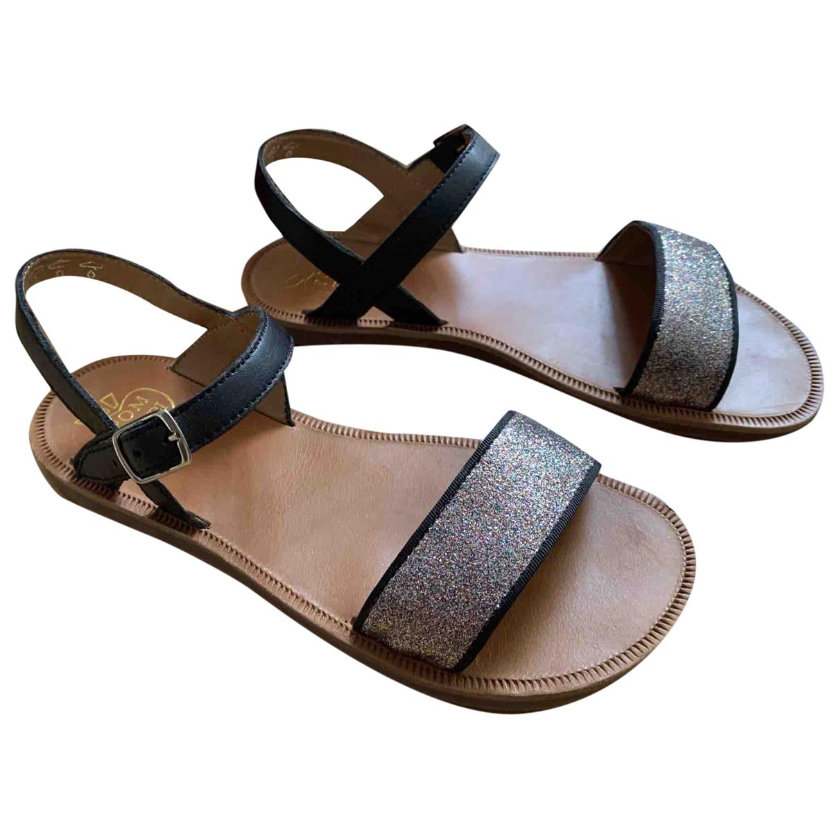 Pom Dapi \N Leather Sandals for Kids 34 FR